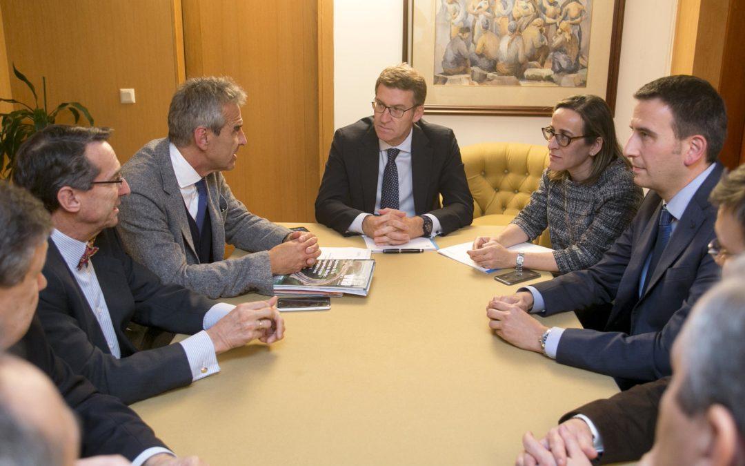 O CGES reúnese co presidente da Xunta e a conselleira de Infraestruturas e ofrece a súa colaboración para o desenvolvemento de grandes proxectos