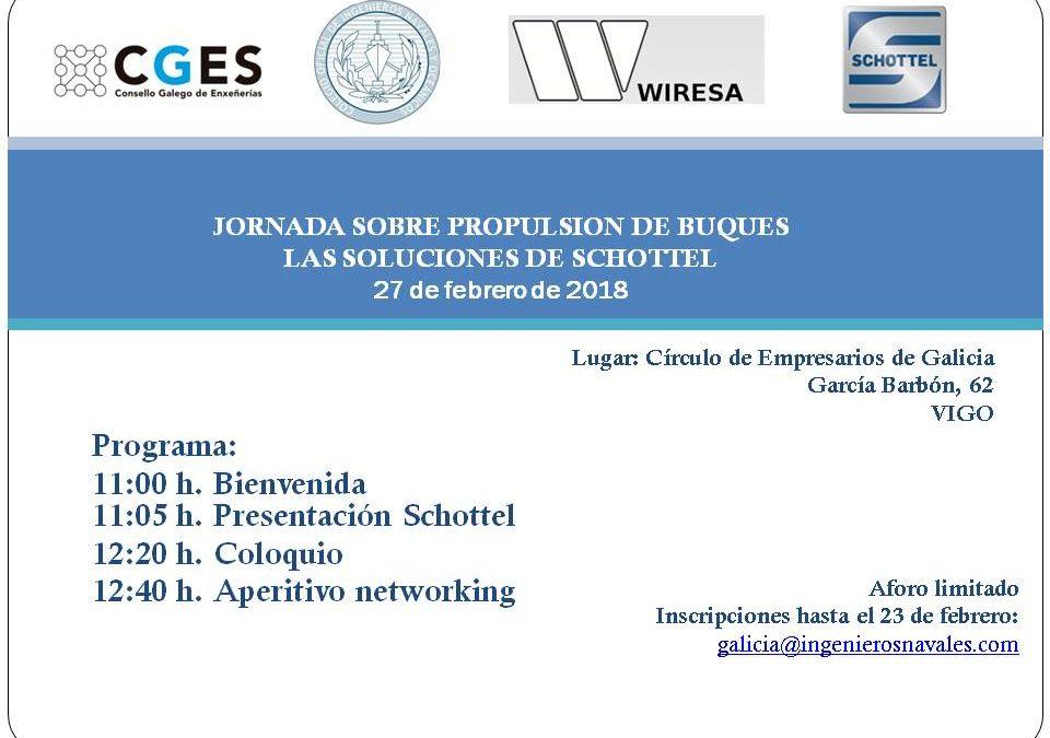 O CGES colabora nunha Xornada sobre propulsión de buques organizada polo COIN Galicia