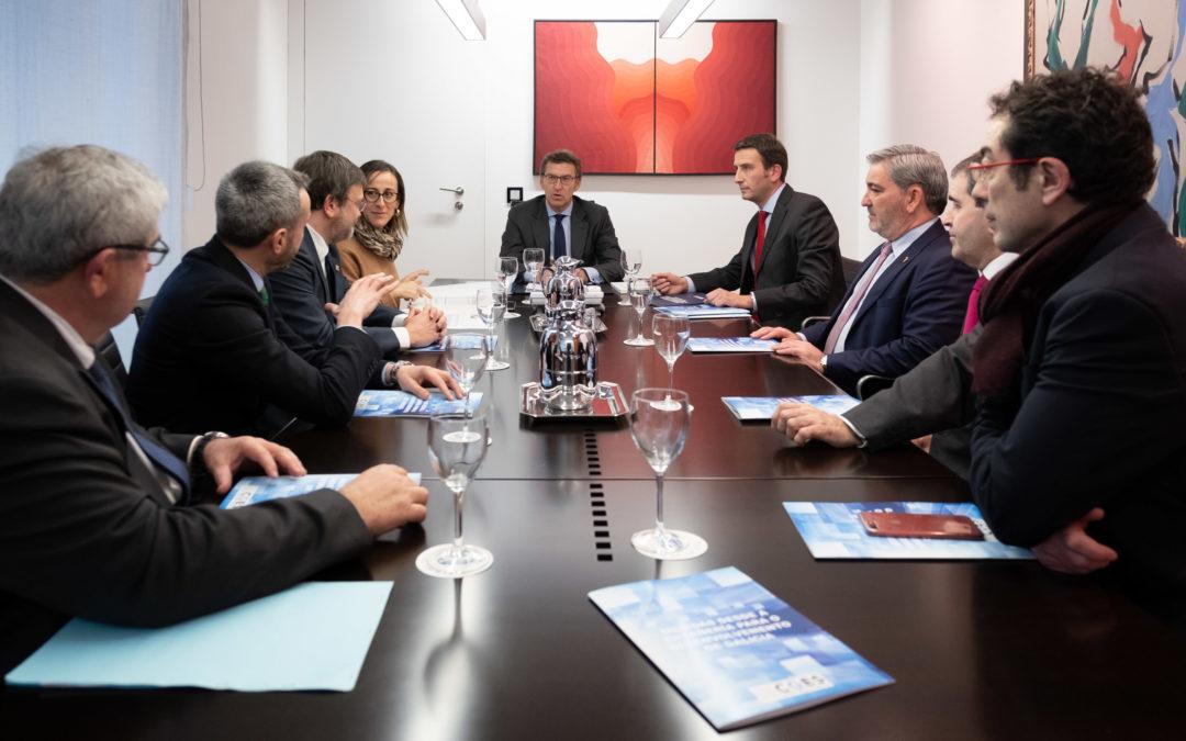 O CGES preséntalle ao presidente da Xunta un documento con máis de cen medidas de como a enxeñería pode colaborar na mellora do futuro da economía e da sociedade de Galicia